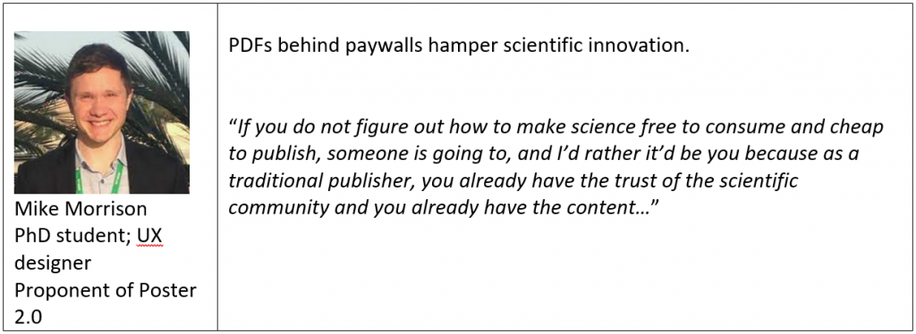 View of a UX designer and student about making science free