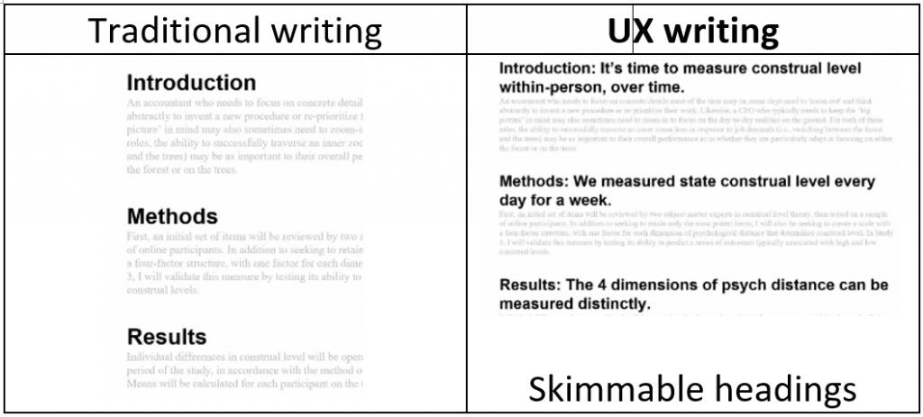 How is UX writing different from traditional writing?